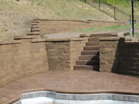 Custom built Retaining Walls, Steps & Stamped Concrete