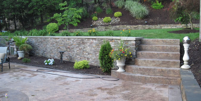 Cerminara Excavating - Retaining Wall, Concerete Steps, Dyed Concrete, Stamped Concrete, Pool Deck